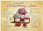 Vintage Style Strawberry Jam Metal Wall Sign Tin Plaque Kitchen Gift